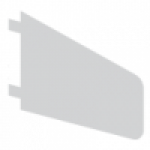 Overkonsol for laminat-, melanin- eller træhylde