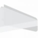 Underkonsol for laminat-, melanin- eller træhylde