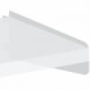 Underkonsol for laminat-, melanin- eller træhylder. 400mm venstre