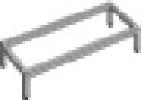 Sokkelfod til 2 omklædningsskabe 305×460