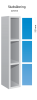 Ultrabox plasticskabe med 3 Låger