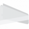 Underkonsol for laminat-, melanin- eller træhylde. 300mm venster
