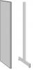 Decorgavl for Enkeltsøjle reol 1500×250 i stål
